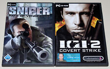 2 PC SPIELE SET - PROJECT IGI 2 & SNIPER PATH OF VENGEANCE - EGO SHOOTER I.G.I.