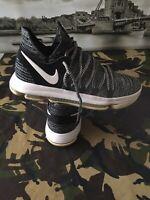 Nike Kevin Durant Shoes Nike Kd 10 Fingerprint Black White Size 8 Uk