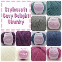 Stylecraft COSY DELIGHT Chunky Soft fluffy Acrylic Knitting Yarn 100g