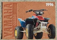 YAMAHA QUAD BIKE RANGE Sales Brochure 1996 YFM80  YFA125  YFS200 YFZ360 YFM350X