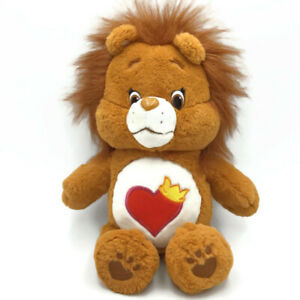 Just Play Care Bears Cousin BRAVE HEART LION 2016 Plush Heart w/ Crown Tummy