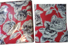New With Tag World Market RED floral Used Curtains 2 panels Rosalie 48 X 96