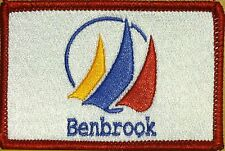 BENBROOK TEXAS Flag Patch With VELCRO® Brand Fastener Red Border #7