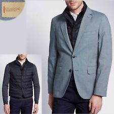 M/&S COLLEZIONE 3-in-1 TAILORED Fit COTTON BLAZER with GILET ~ 42 or 44 ~ BLUE