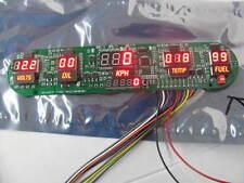 Intellitronix 5 Gauge LED Digital Dash Panel Kit Speedo Volt Fuel OP KPH C Color