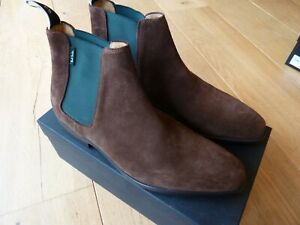 Paul Smith Chelsea Boots GERALD Suede SIZE 8 : NEW WITH BOX