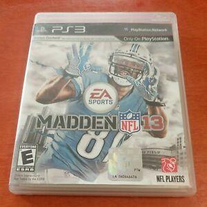 Madden NFL 13 PlayStation 3 PS3 EA Sports Electronic Arts Everyone Football
