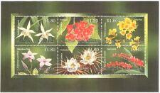 Antigua & Barbuda 2002 Orchids/Cacti/Cactus/Flowers/Plants/Nature 6v m/s n42788