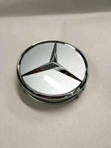 Genuine  Wheel Hub Insert - Silver Cap Silver Logo 6-6-47-0202