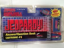 1995 Tiger Games Jeopardy Answer Book & Game Cartridge #1 New Factory Sealed