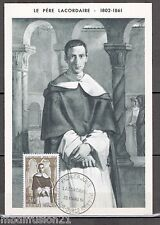 FDC CP 1°JOUR -LE PERE LACORDAIRE-RECEY SUR OURCE-OBL.25.3.1961 - TIMBRE Yv.1287
