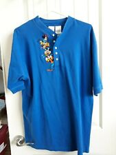 Disney Mickey & Friends Mens Pullover Short Sleeve Shirt Size L Cotton/Polyester