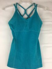 Athleta Tank With Pads Workout Strappy Fitted