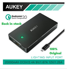 Aukey Latest 20000mAh  Power Bank quick charge  2.0 support Back in stock
