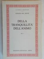 Della tranquillità dell'animo 1 Del Nente Ignazio cantagalli 1978 teologia 81