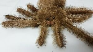 Centerparcs Soft toy Spider, No Tag Only Label, 10 Ins Wide. Brown, arachnid,