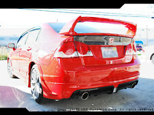 2006 2011 Honda Civic Mugen RR Spoiler Style Trunk Wing + Mugen Badge Unpainted