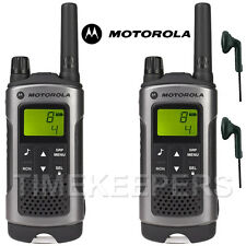 10 km Motorola TLKR T80 Talkie Walkie Two Way Sécurité Loisirs Radio + 2 casques