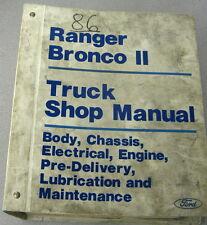1986 Ford Ranger Bronco II Truck Service Manual