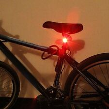 Bicycle LED USB Charging Rear Tail Warning Safety Light Lamp Red Light 3 Mode AC