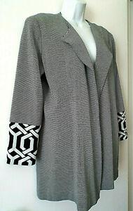 ***MISOOK Sz L/XL knit  JACKET black ivory!!
