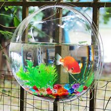 Transparent Creative Wall Mounted Acrylic Fish Bowl Hanging Aquarium Fish Tank H