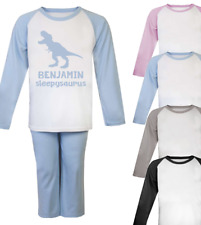 Personalised Name Dinosaur Sleepysaurus Pjs Kids Pyjamas Novelty Pjs Kids