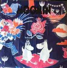 Moomin paper napkins, 33x33cm, 20 counts, Taikamuumi, Moomintroll Finland blue