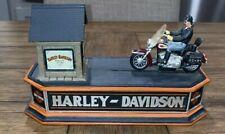 VINTAGE FRANKLIN MINT HARLEY-DAVIDSON SOFTAIL MOTORCYCLE MECHANICAL BANK WORKS