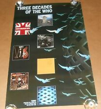 Three Decades of The Who Poster Original Promo 35x23
