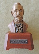 Vintage Reuge Composer Music Box with Bust of Verdi — Music Box Not Working