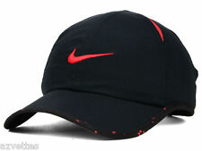 NEW! Black/Red NIKE Men-Women's Tennis Hat Golf DRI-FIT Runner Cap Featherlight