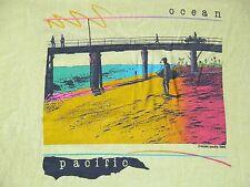Vtg 1980s OP OCEAN PACIFIC Surfer T Shirt Beach Surf Scenic L Skater Hipster