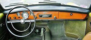 VW KARMANN GHIA, NEW DASH PAD, ORIGINAL STYLE, 1968-1969-1970 W/BOLTS & NUTS!!!