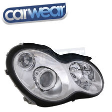 C55 AMG STYLE CHROME PROJECTOR HEAD LIGHTS FOR MERCEDES W203 00-06 C200 C300