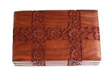 8 Inch Wooden Keepsake Jewelry Box Keepsake Trinket Velvet Interiors Gift Decor