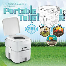 20L 5 Gallon Portable Toilet Travel Camping Flush Potty Commode Outdoor Indoor