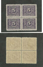 Canada, Postage Stamp, #J4 Mint NH Block, 1906 Postage Due
