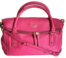 NWT Kate Spade Small Leslie Strawberry PINK Cobble Hill Leather Satchel Purse