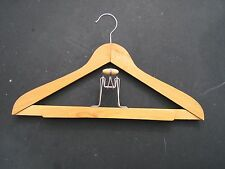SHINY WOODEN MAPLE  Clothes Hanger with Pant Hanger in one NEVCO DIPLOMAT
