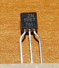 Transistor 2N5087 PNP 50V grand gain ß>250 faible bruit. Low noise hi-gain NEW
