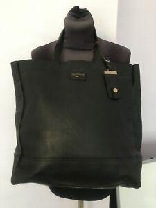 PAUL COSTELLOE GENUINE LEATHER LARGE BLACK WOMENS LADIES HANDBAGS BAGS BAG