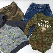 Lot of 4 Toddler Boy's Clothes - 12-18M - One Piece, Hoodie, Camo Pants, Jeans