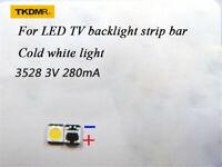 100Pcs 3528 2835 SMD Lamp Beads 3V for LG LED TV Backlight Strip Bar,Repair TV