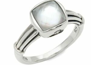 LAGOS VENUS WHITE MOTHER OF PEARL DOUBLET RING STERLING SILVER SZ 7 BNWT $195