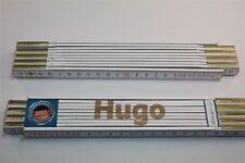 Zollstock mit Namen     HUGO   Lasergravur 2 Meter Handwerkerqualität