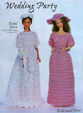 Crochet Pattern Only ~ Barbie's Wedding Gown and Brides Maid Dress