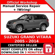 # FACTORY WORKSHOP SERVICE REPAIR MANUAL SUZUKI GRAND VITARA 2005 - 2014