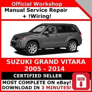 FACTORY WORKSHOP SERVICE REPAIR MANUAL SUZUKI GRAND VITARA 2005 - 2014