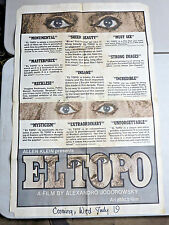 EL TOPO Original Theatrical One-Sheet Poster 27x41 1970  Alejandro Jodorowsky